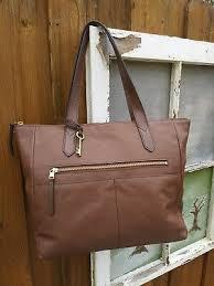 leather tote handbag brown retails 178
