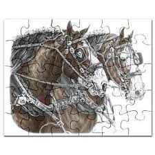 jigsaw puzzle clydesdale horse