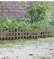 Set Of 6 Rustic Metal Picket Fence Garden Edging With Birds Garden Fencing Picket Fence Garden Garden Edging