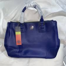 cobalt blue saffiano leather tory burch