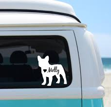 French Bulldog Personalized Vinyl Decal Personalized French Etsy