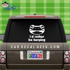 Frog I D Rather Be Herping Car Decal Sticker Wildlife Decals