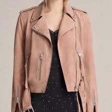 allsaints balfern blush pink suede