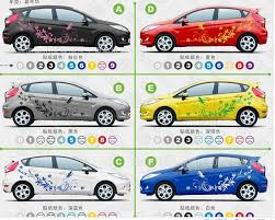 A Whole Set Butterfly Flower Wistaria Vine Sports Racing Decals Sticker For Car Body Both Side Head Cover Sticker Sport Pvc Stickerflower Car Decal Aliexpress