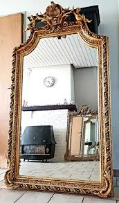 solid gold plated baroque mirror