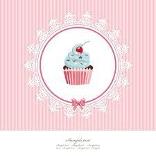 Plantilla De Tarjeta De Felicitacion Con Cupcake Descargar