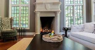 fireplaces in luxury living rooms