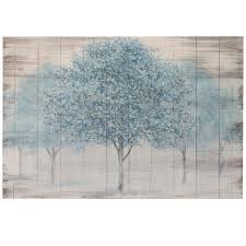 Blue Trees Canvas Wall Art With Hand Painting Pier1 Imports