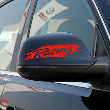 Buy Di Figure Racing Reflective Mirrors One Pair Modified Car Stickers Garland Personalized Car Stickers Funny Car Stickers Sporty In Cheap Price On Alibaba Com