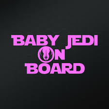 Baby Jedi On Board Star Wars Inspired Vinyl Decal Sticker Decor Car Decal