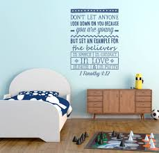 1 Timothy 4 12 Because You Are Young Wall Decal A Great Impression