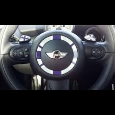 Steering Wheel Ring Paddle Shifters Glove Box Button Sticker Set Union Jack