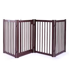 Jaxpety 30 H Pet Fence Gate Free Standing Dog Gate Indoor Solid Wood Walmart Com Walmart Com
