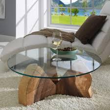 Couchtisch Rund Holz Glas