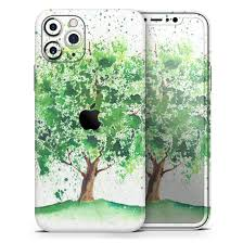 Splattered Watercolor Tree Of Life Designskinz Protective Vinyl Decal Wrap Skin Cover Compatible With The Apple Iphone X Full Body Screen Trim Back Glass Skin Walmart Com Walmart Com