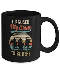 vintage cowboy i paused my game to be here for gamers mug oz