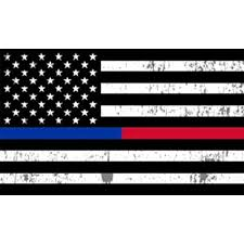Amazon Com 4 Pack Thin Blue Line And Red Line Lives Matter Flag Car Decal Bumper Sticker Support Law Enforcement Police Officers And Firefighter Flags Automotive