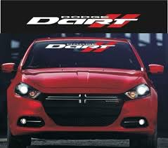 Dodge Dart Windshield Banner Decal Sticker A9 Aftermarket Replacement Non Factory Custom Sticker Shop