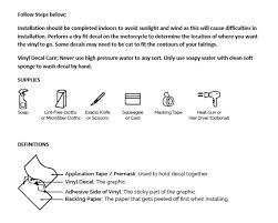 Striped Words Decal Kit Abs Fairings Llc