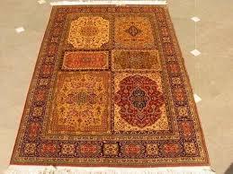 kashmiri handmade silk n silk carpet