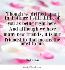 drifted friendship quotes