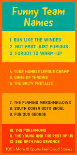funny team names for your squad or