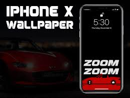 iphone x miata car wallpaper by leo