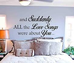 Amazon Com Best Design Amazing Love Songs Wall Decal Master Bedroom Wall Decal Quote Bedroom Home Decor Vinyl Bedroom Wall Decal Bedroom Wall Sticker Bedroom Decor Made In Usa Kitchen Dining