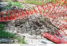 Orange Plastic Safety Net Barrier On Stock Photo Edit Now 1153611631
