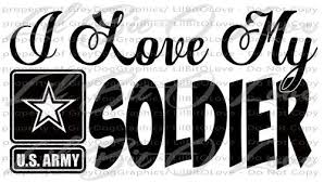 I Love My Soldier Design 2 Vinyl Decal Army Sticker United States Army Lilbitolove Housewares On Artfire Army Mom Quotes Army Quotes Army