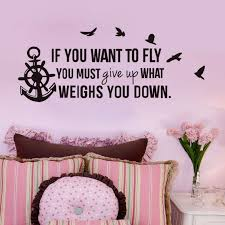 If You Want To Fly Inspirational Quotes Wall Stickers Nursery Decoration Anchor Wall Decal For Room Buy At The Price Of 6 25 In Aliexpress Com Imall Com