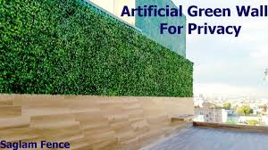 Artificial Green Wall For Privacy Saglam Fence