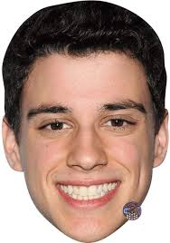 Adam Dimarco (Smile) Celebrity Mask, Flat Card Face, Fancy Dress Mask:  Amazon.co.uk: Toys & Games
