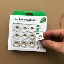 9pcs 1w square ip65 mini led downlight