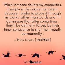 i simply smile and remain quotes writings by piyali