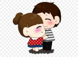 love cartoon couple hug ilration