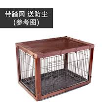 Solid Wood Iron Dog Cage Indoor Pet Fence Large Medium And Small Dog High End Fence