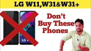 LG W11 vs W31 vs W31+ Specifications ...