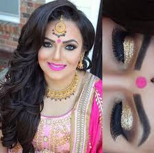 indian enement bridal makeup