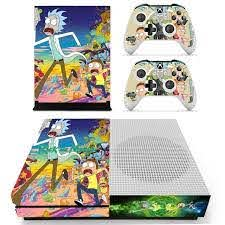 Anime Rick And Morty Skin Sticker Decal For Xbox One S Console And Controllers For Xbox One Slim Skin Stickers Vinyl Consoleskins Co