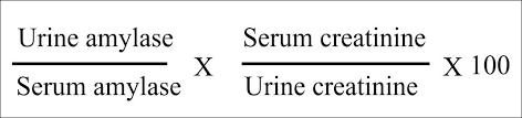 amylase creatinine clearance ratio