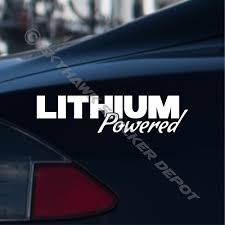 Lithium Powered Sticker Vinyl Decal For Tesla Electric Vehicle Hybrid Sticker Ev Ebay
