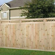 Outdoor Essentials 1 Ft X 6 Ft Decorative Lattice Wood Fence Panel Top Kit 206338 The Home Depot Wood Fence Outdoor Essentials Fence Panels