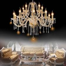 crystal chandelier e12 6 lamps candle