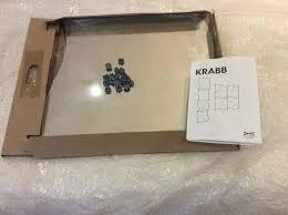 ikea krabb set of 4 mirrors brand new