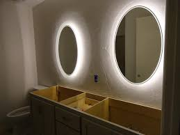 back lighted bathroom mirrors of with