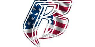American Flag Ruff Ryders Decal Sticker