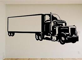 Semi Truck Car Auto Wall Decal Stickers Murals Boys Room Man Cave
