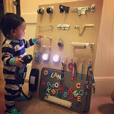 This Dad Made An Incredible Homemade Busy Board For His Toddler Business For Kids Busy Toddler Busy Boards For Toddlers