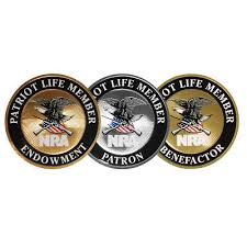 Multiple Types Nra Patriot Life Member Mylar Decal Dtom Window Bumper Sticker